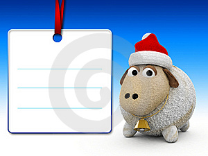 Christmas Sheep Royalty Free Stock Photography - Image: 15672707