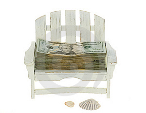 Big Stack Of Twenty Dollar Bills In A Chair Royalty Free Stock Photos - Image: 15673068