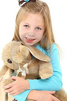 Beautiful Girl With Bunny Stock Photography - Image: 15673472