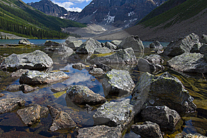 Large Boulder Of Consolation Lake Stock Photography - Image: 15674272