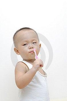 Baby Brushing Teeth Stock Images - Image: 15674294