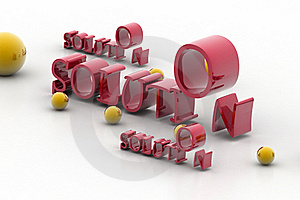 Word Solution And Balls Stock Images - Image: 15676034