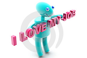 I Love My Job Stock Photo - Image: 15676420