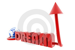Dream And World With Arrow Stock Photo - Image: 15676500