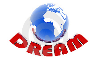 Dream And World With Arrow Royalty Free Stock Images - Image: 15676519