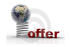 Globe And Offer Stock Images - Image: 15676574