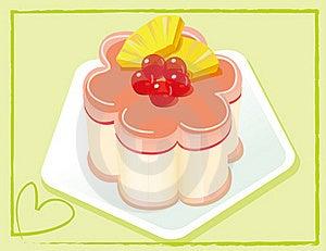 Cherry Cake Stock Image - Image: 15676601