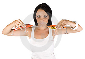 Girl With A Bait Stock Image - Image: 15676701