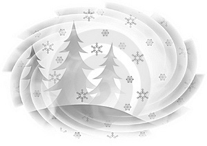 Firs And Snowflakes Stock Photos - Image: 15676993