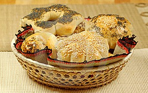 Buns In The Basket Royalty Free Stock Photography - Image: 15678877