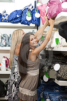 Young Women Doing Shopping Royalty Free Stock Photo - Image: 15679255