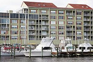 Waterside Condos And Marina Stock Image - Image: 15679261