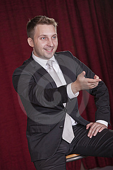 Showman Talking With Audiences Stock Photo - Image: 15679560