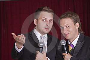 Two Comedians On The Stage Royalty Free Stock Photo - Image: 15679665