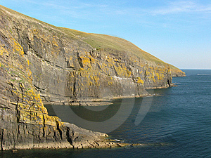 Cliffs, Cilan Head. Stock Photography - Image: 15680042
