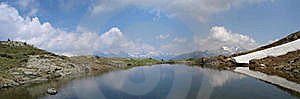 The Lake Speikboden-See (2.230 M) Royalty Free Stock Image - Image: 15681066