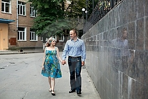Young Couple In The Street Royalty Free Stock Photo - Image: 15682355