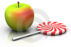 Apple And Lollipop Stock Image - Image: 15682601
