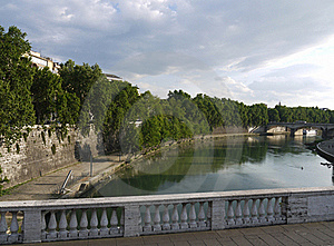 Tiber River Rome Royalty Free Stock Image - Image: 15682966