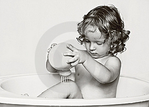 The Fan Of Water Procedures. Royalty Free Stock Images - Image: 15683099