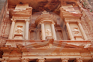 Part Of Petra Temple Stock Photos - Image: 15685223