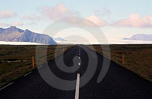 Empty Road In Iceland Royalty Free Stock Photography - Image: 15689187