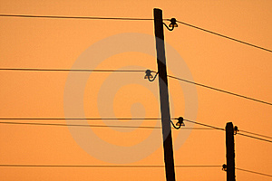Electrical Pole Royalty Free Stock Photo - Image: 15691215