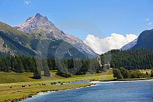 Alpine Lake Royalty Free Stock Photo - Image: 15692295