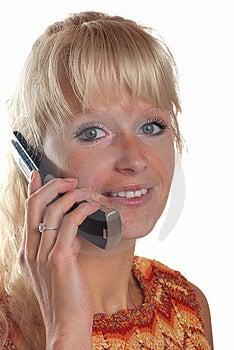 Blond Woman Phoning Stock Photos - Image: 15695263