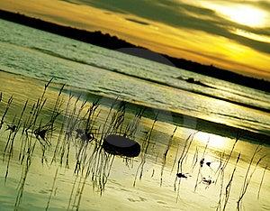 Sunset Over The Coast Stock Photo - Image: 15696530