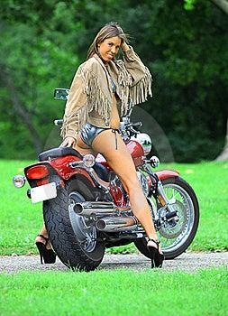 Biker Babe Stock Photography - Image: 15699102