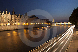 Seine At Night Royalty Free Stock Photo - Image: 15699175