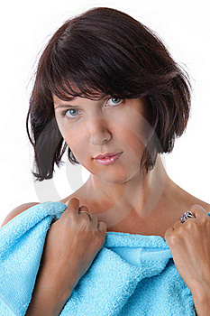 Beautiful Woman's Face With Pure Skin Stock Images - Image: 15699514