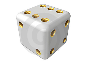 Single dice Stock Photos