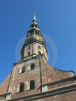 St. Peter's Cathedral Spire Stock Image - Image: 1575891