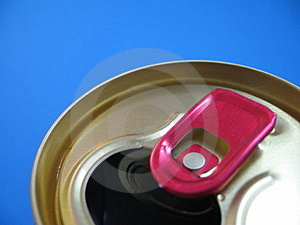 Aluminium Can On A Blue Background Stock Photos - Image: 1576613