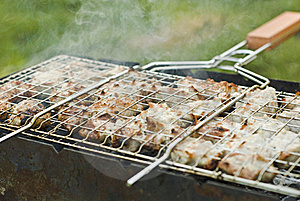 Barbecue On A Lattice Out Of Door Stock Image - Image: 15700941