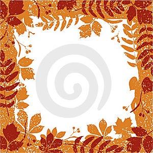 Autumn Leaves Grange Border Royalty Free Stock Photography - Image: 15700967
