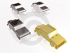 Gold Car Stock Images - Image: 15701074
