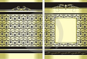 Two Decorative Backgrounds For Wrapping Royalty Free Stock Photos - Image: 15701408
