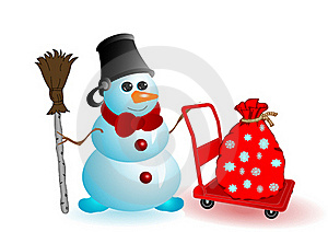 Vector Illustration The Christmas Snowman Stock Photo - Image: 15702890