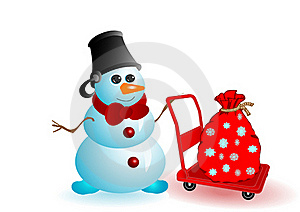 Vector Illustration The Christmas Snowman Stock Images - Image: 15702894