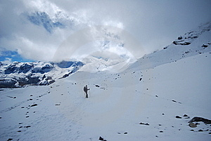 Backpacking In The Himalayas Royalty Free Stock Photography - Image: 15703357