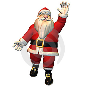 Hello - Santa Claus In Greeting Pose Royalty Free Stock Image - Image: 15705926