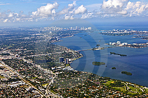 Aerial Of Coastline Miami Royalty Free Stock Image - Image: 15706046