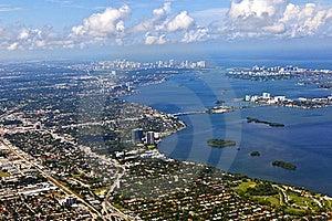 Aerial Of Coastline Miami Royalty Free Stock Image - Image: 15706046