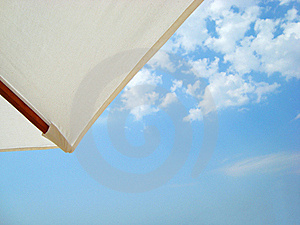 Umbrella Against The Sky Royalty Free Stock Image - Image: 15706766