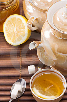 Pot And Honey On Table Stock Photo - Image: 15707710