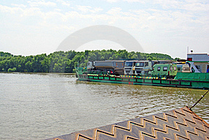 Ferry Boat Vehicles Transport Royalty Free Stock Images - Image: 15710049