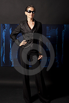 Portrait Of A Girl In Black Royalty Free Stock Image - Image: 15710896